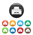 home printer icons set color vector image vector image
