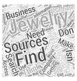 how to find jewelry wholesale sources dlvy vector image vector image