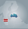 latvia information map vector image