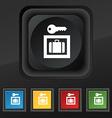 Luggage Storage icon symbol Set of five colorful vector image vector image