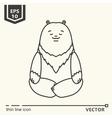 Meditative Animals series - bear vector image vector image