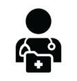 nurse icon male person profile avatar symbol vector image vector image