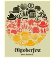 Oktoberfest Beer Festival label vector image vector image