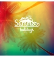 Palm Tree Sunset typography poster vector image vector image
