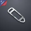 Pen icon symbol 3D style Trendy modern design with vector image vector image