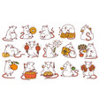 rat set with different chinese new year symbols vector image vector image