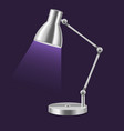 realistic template blank metal table lamp vector image vector image