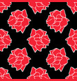 red roses on black background seamless wallpaper vector image