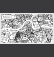 rotterdam map in black and white color vector image
