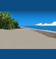 sandy tropical beach and sea in background vector image