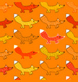 seamless pattern with foxes vector image vector image