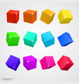 set colored cubes vector image vector image
