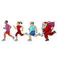 set people are running vector image vector image