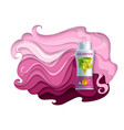 shampoo ads paper cut vector image vector image