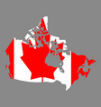 silhouette country borders map of canada on vector image