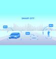 smart city flat cityscape vector image vector image