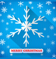 snowflakes christmas card vector image vector image
