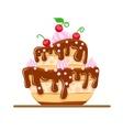 Sponge cake dessert with sweet vector image vector image