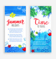 summer banner templates vector image vector image