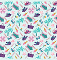 summer vacation pattern in beach style vector image vector image