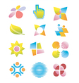 Symbols logos icons vector image