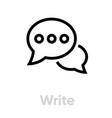 write message chat icon editable outline vector image vector image