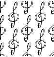 Black outline seamless pattern background vector image