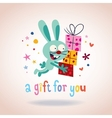 A gift for you bunny with presents vector image vector image