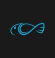 abstract fish symbol icon vector image