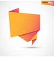 Abstract orange banner isolated on the white vector image