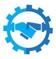 abstract teamwork logo business concept vector image vector image