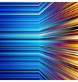 Abstract warped orange and blue stripes vector image vector image