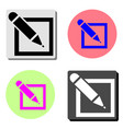 agreement flat icon vector image vector image