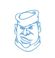 angry sailorman head cartoon vector image vector image