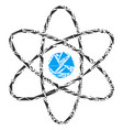 atom mosaic of triangles vector image
