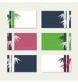 bamboo stems greeting cards vector image