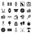 basketball training icons set simple style vector image vector image