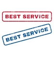 Best Service Rubber Stamps vector image vector image