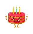 Birthday Cake WIth One Candle Happy Birthday And vector image vector image