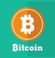 bitcoin symbol flat design vector image