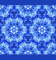 blue starry flower kaleidoscope background vector image vector image