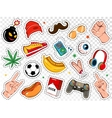 Boy Fashion Colorful Badges Set vector image