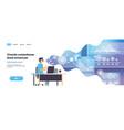 businessman wear digital glasses online trading vector image