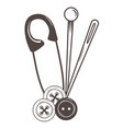 button needle and pin tailor shop design vector image vector image