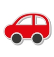 car auto sedan icon vector image