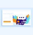 chat sign and credit card stock flat style vector image vector image