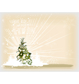 christmas card tree vector image vector image