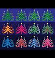 christmas decorative tree symbol design vector image vector image