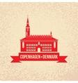 City hall The symbol of Copenhagen Denmark vector image vector image
