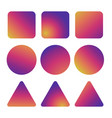colorful smooth gradient icons - gradient buttons vector image